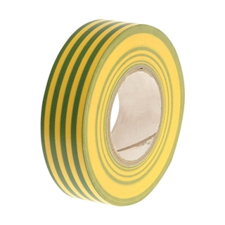 Faithfull PVC Electrical Tape Green/Yellow 19mm x 20m