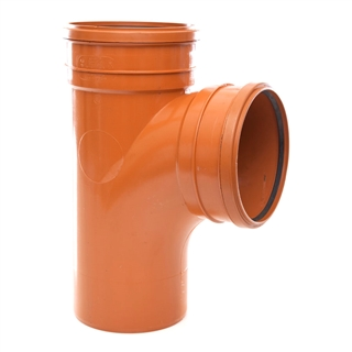 Polypipe Underground Drain 160mm 87° Double Socket Equal Junction UG624