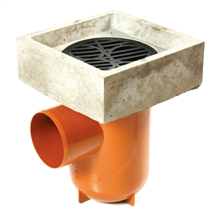 Polypipe Underground Drain 110mm Bottle Gully with Anti-Splash Top UG425AST