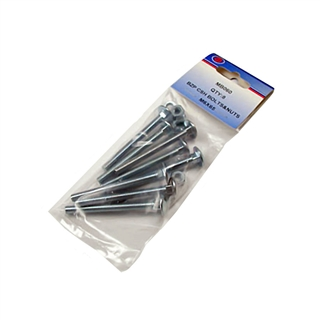 M8 x 130mm Cup Square Hex Bolts (Pack of 4)