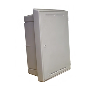 Gas Meter Box Recessed White