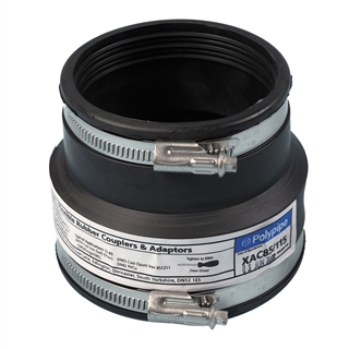 Polypipe Flexicon 120mm-135mm 100mm-115mm Drainage Adapter XAC400