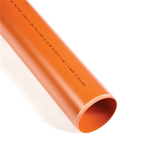 Polypipe Underground Drain 110mm 3m Plain Ended Pipe UG430