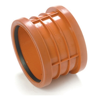 Polypipe Polyrib 110mm Double Socket Coupler UR401