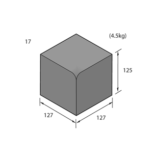 Keykerb Type K-S Internal Angle Charcoal