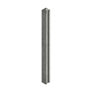 Concrete Post Slotted End 100mm x 125mm x 2.66m