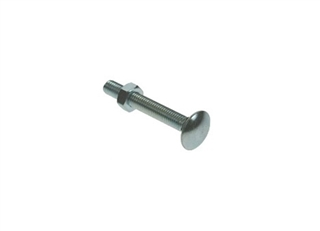 M12 x 75mm Carriage Bolts & Nuts BZP