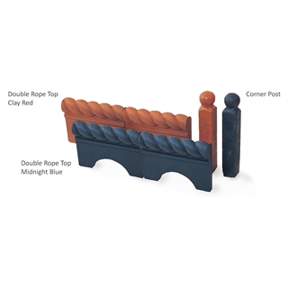 Victorian Edging Corner Post 45mm x 280mm Clay Red