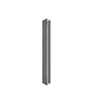 Concrete Post Slotted End 100mm x 125mm x 1.75m