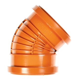 Polypipe Polyrib 110mm 45° Double Socket Bend UR403