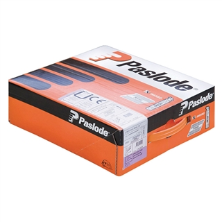 Paslode 141210 63mm x 2.8mm RG Galvanised Plus (Pack of 3300 & 3 Fuel Cells)