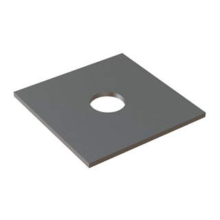 50mm x 50mm x 3mm Square Plate Washer BZP