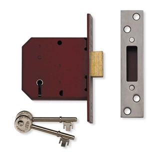 """Union Y2101 2½"""" 65mm Mortice Deadlock 5 Lever Polished Brass"""