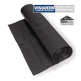 Polythene Film Damp Proof Membrane 300Mµ BBA Black 4m x 25m