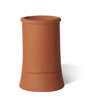 Terracotta Chimney Pot Plain Roll Top Red 750mm