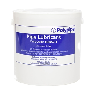 Polypipe Joint Lubricant 2.5kg Tub LUBX2.5