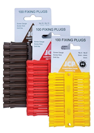Fixing Plugs Red (Box of 100)