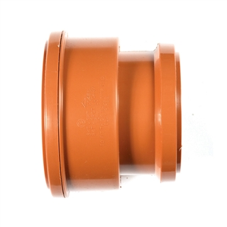 Polypipe Underground Drain 160mm Adapter Thick Clay Socket to PVC Socket UG696