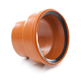Polypipe Underground Drain 160mm Adapter Thick Clay Socket to PVC Spigot UG697