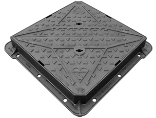 Integrity D400 Double Triangle Manhole Cover and Frame 600mm x 600mm x 100mm Depth