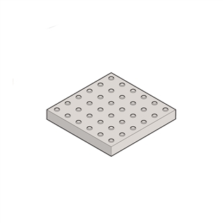 Concrete Paver Blister 450mm x 450mm x 50mm Red (Pack of 36)
