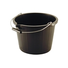 Builders Bucket 14 Litre Black