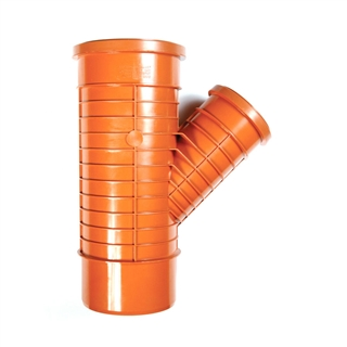 Polypipe Polyrib 160mm 45° Double Socket Unequal Junction UR636