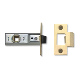 "Union Y2650 2½"" 65mm Rebated Tubular Mortice Latch Electro Brass"