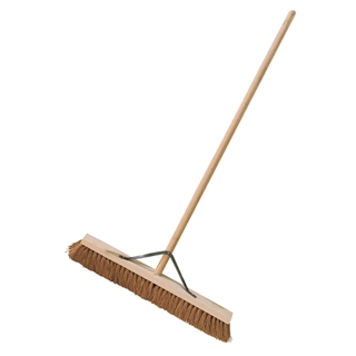 """Platform Coco Broom with Stayed Handle 24"""""""