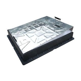 Block Pavior Internal Recessed Tray Manhole Cover and Frame 600mm x 450mm x 85mm Depth