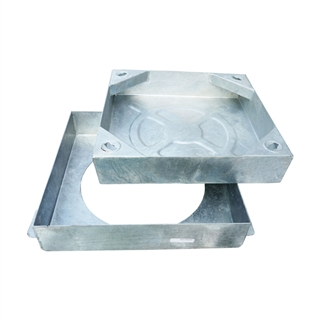 R2 Square to Round Block Pavior Internal Recessed Tray Manhole Cover and Frame 300mm x 300mm x 80mm