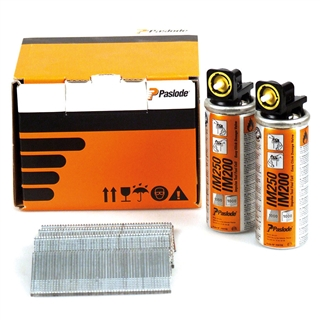 Paslode 921587 F16 x 25mm Galvanised (Pack of 2000 & 2 Fuel Cells)