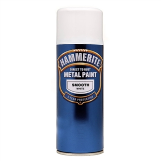 Hammerite Smooth White Paint 400ml Aerosol