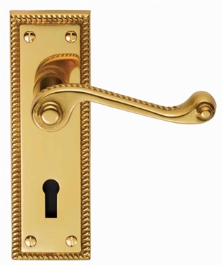 Georgian Internal Door Handle Pack Brass