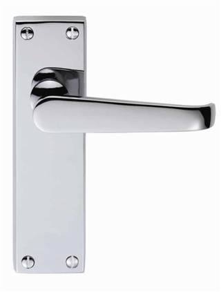 Victorian Lever Latch Handle Chrome