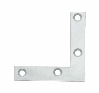 Corner Plate 75mm BZP (Pack of 6)