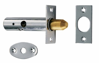 Door Security Pack with 2 Bolts & 1 Key Chrome