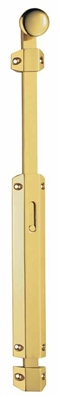 Surface Bolt with Extruded Flat Keepers Brass image 0