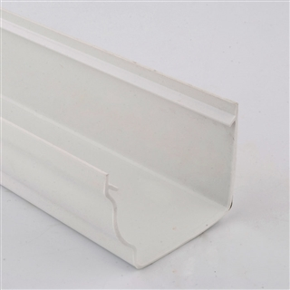 Polypipe High Capacity Gutter 117mm x 75mm 4m White RH701
