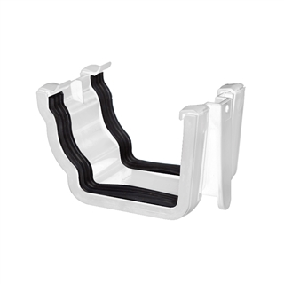 Polypipe High Capacity Gutter Union Bracket White RH702