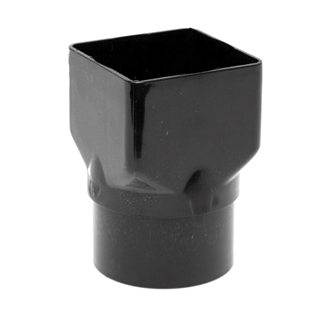 Polypipe High Capacity Gutter Square to Round Pipe Adapter Black RH720