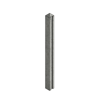 Concrete Post Slotted End 100mm x 125mm x 2.36m