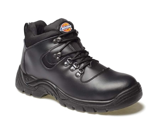 Size 11 Dickies Fury Upper Safety Hiker Boots Black