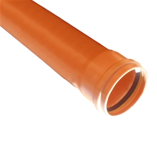 Polypipe Underground Drain 110mm 6m Single Socket Pipe UG462