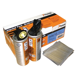 Paslode 395194 F18 x 32mm Galvanised (Pack of 2000 & 2 Fuel Cells)