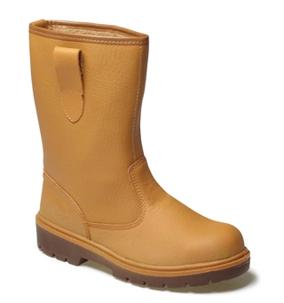 Size 11 Dickies Lined Rigger Boots Tan