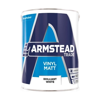 Armstead Trade Vinyl Matt Brilliant White 5 Litre