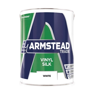 Armstead Trade Vinyl Silk White 5 Litre