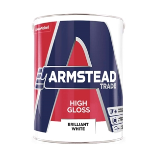 Armstead Trade High Gloss Brilliant White 5 Litre
