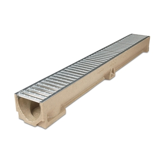 ACO RainDrain Channel 1m with Galvanised Grating
